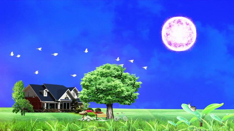 美丽房子花园自然风景