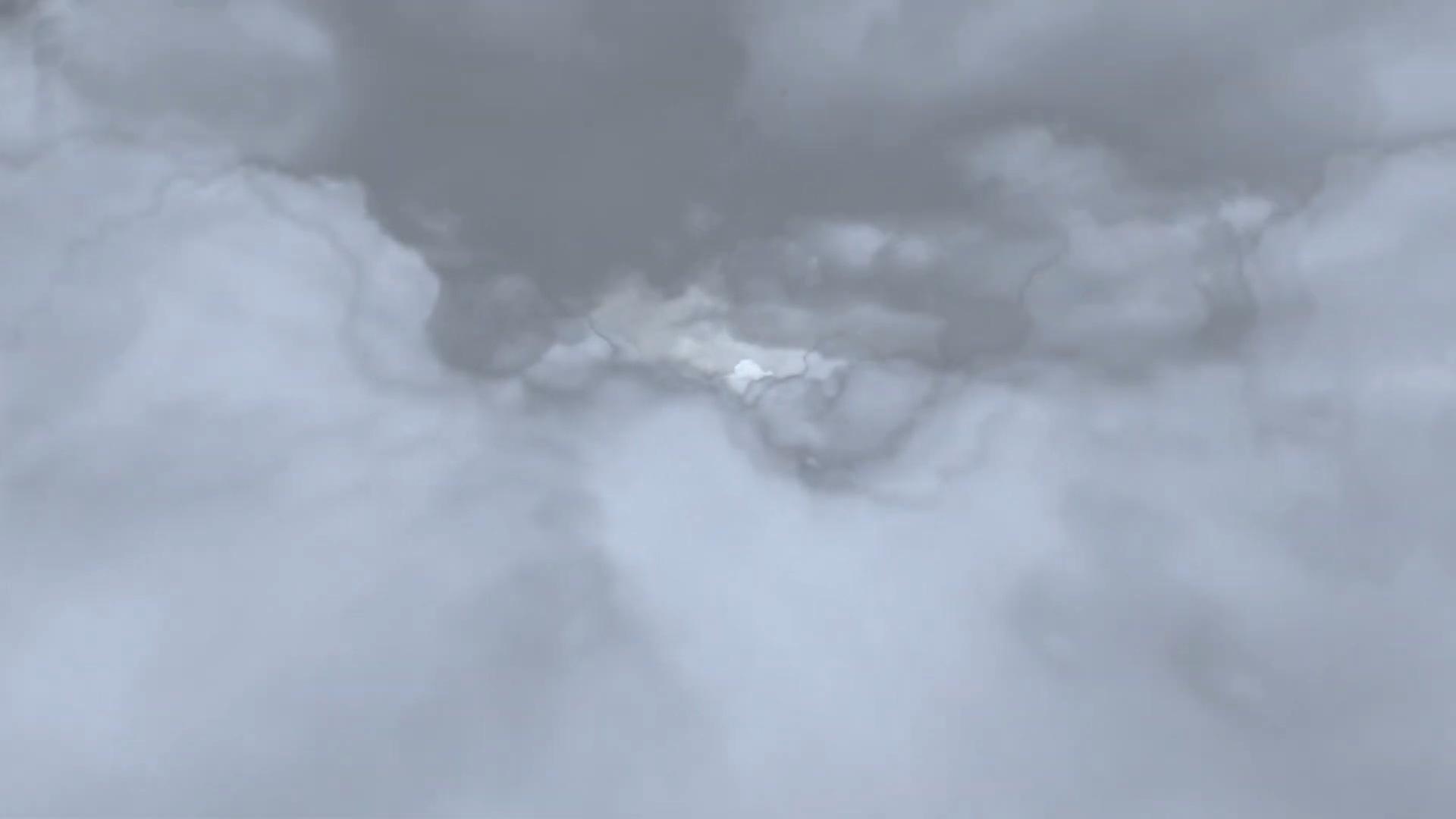 空中云层穿梭效果