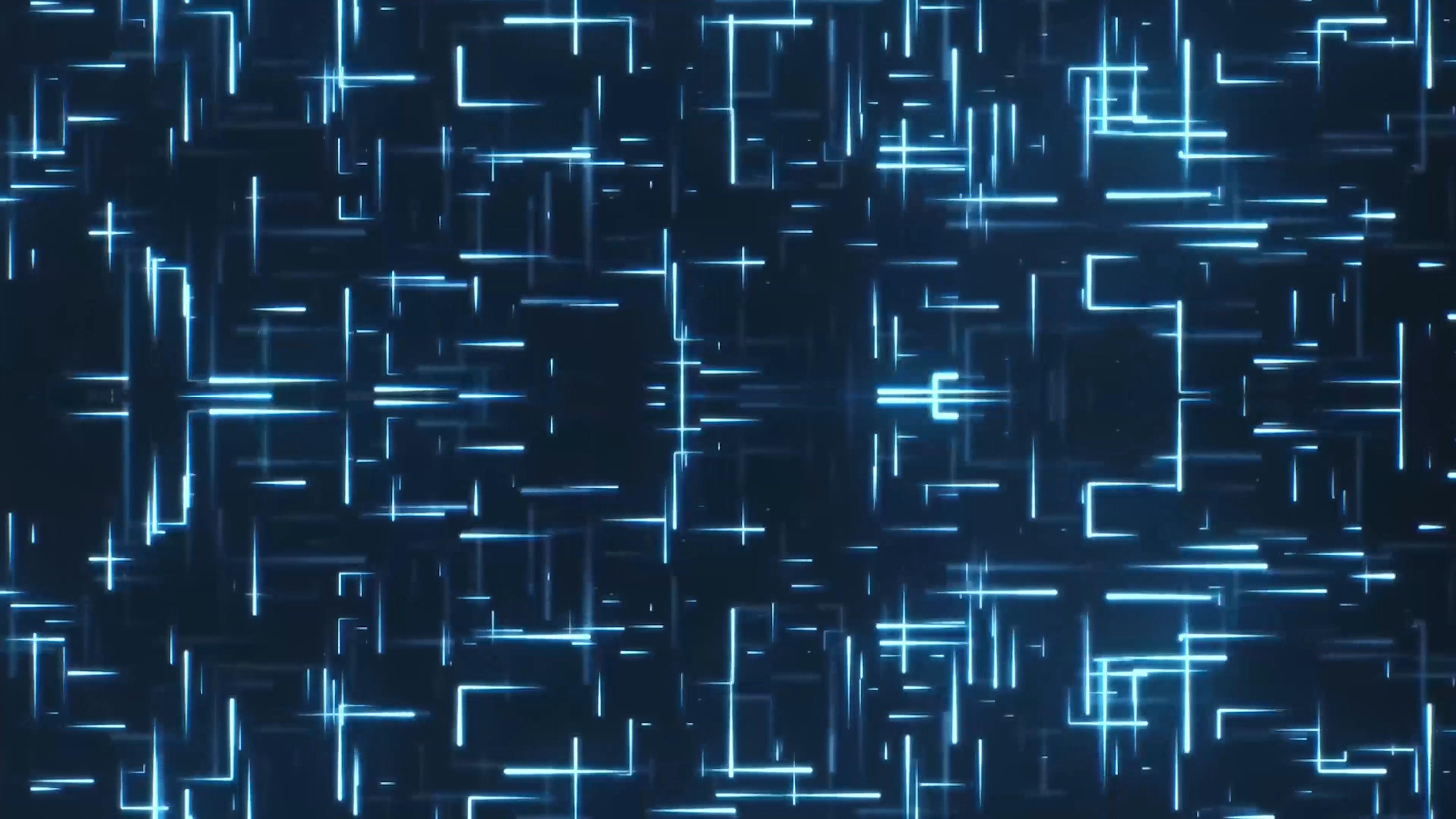 蓝色科技抽象粒子光线科技背景