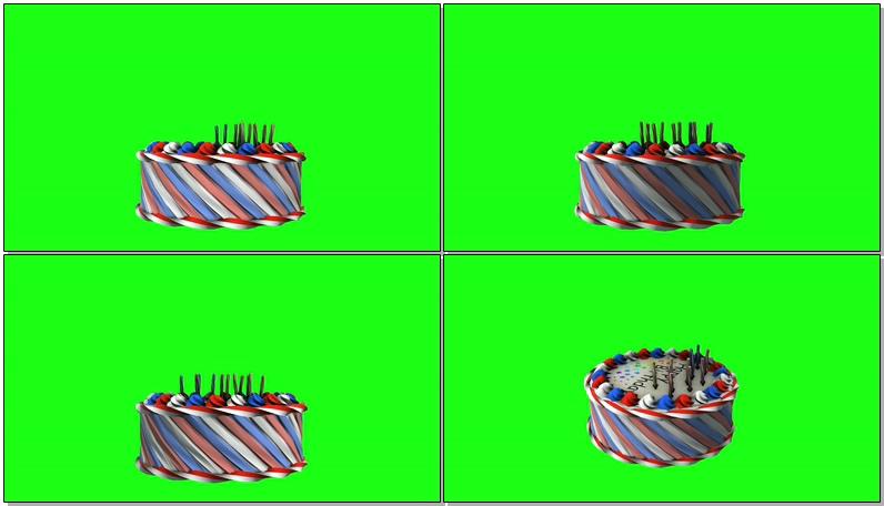\[4K\]绿屏抠像生日蛋糕