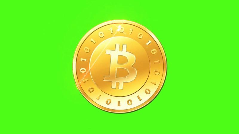 绿屏抠像比特币金币