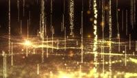 大气金色粒子波浪背景