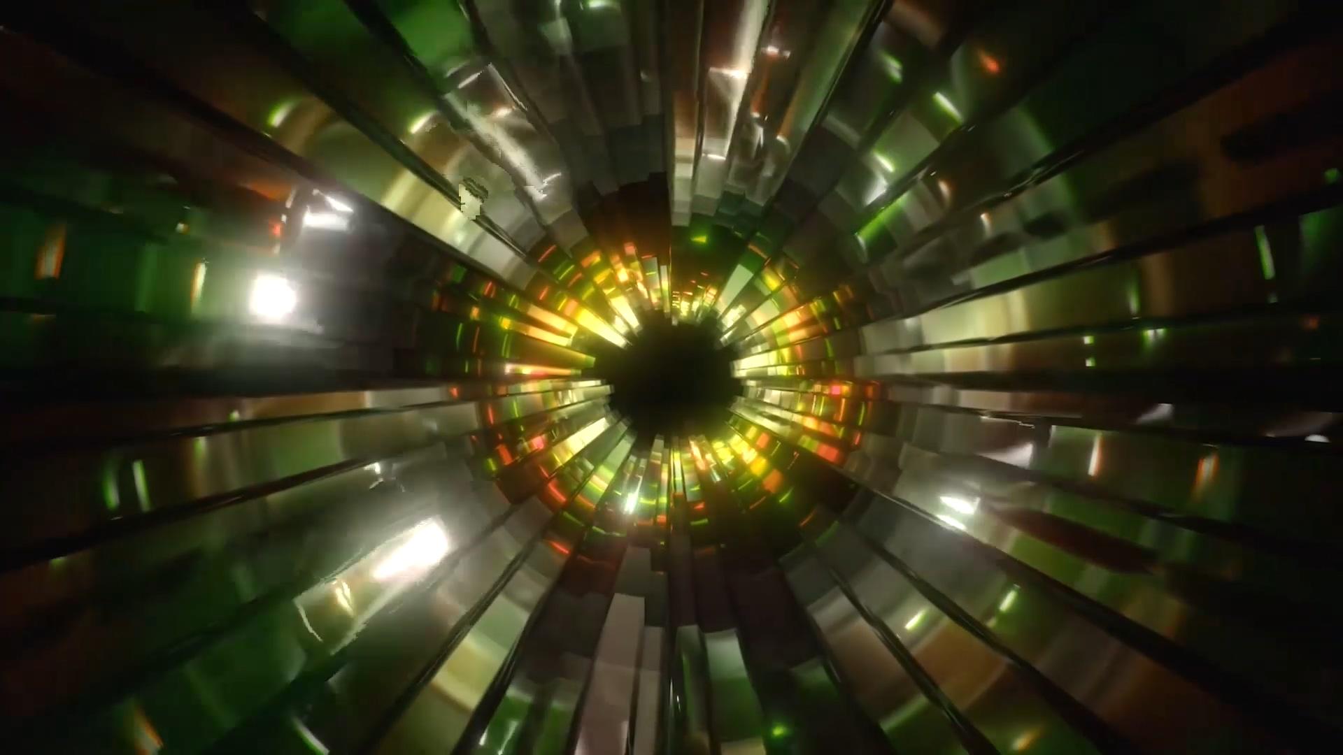 隧道穿梭变幻灯光秀