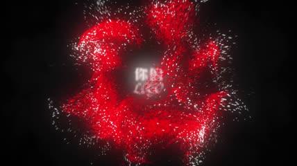彩色粒子旋转爆炸logo片头动画AE模板