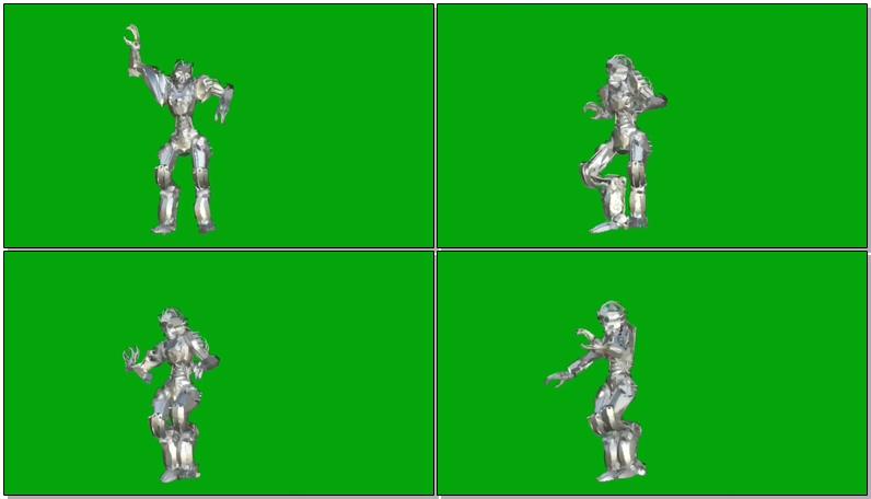 绿屏抠像跳舞的机器人