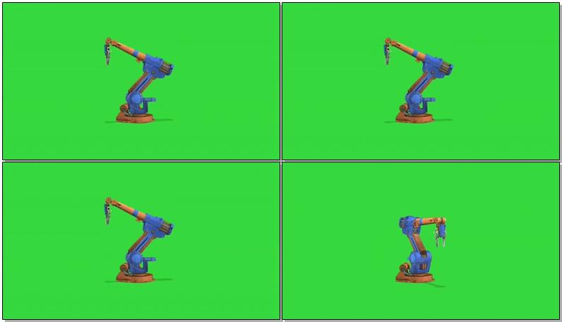 绿屏抠像工作的机械手臂