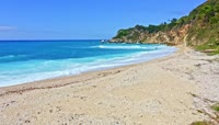 海水冲刷海滩视频素材