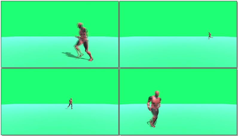 绿屏抠像奔跑的机器人