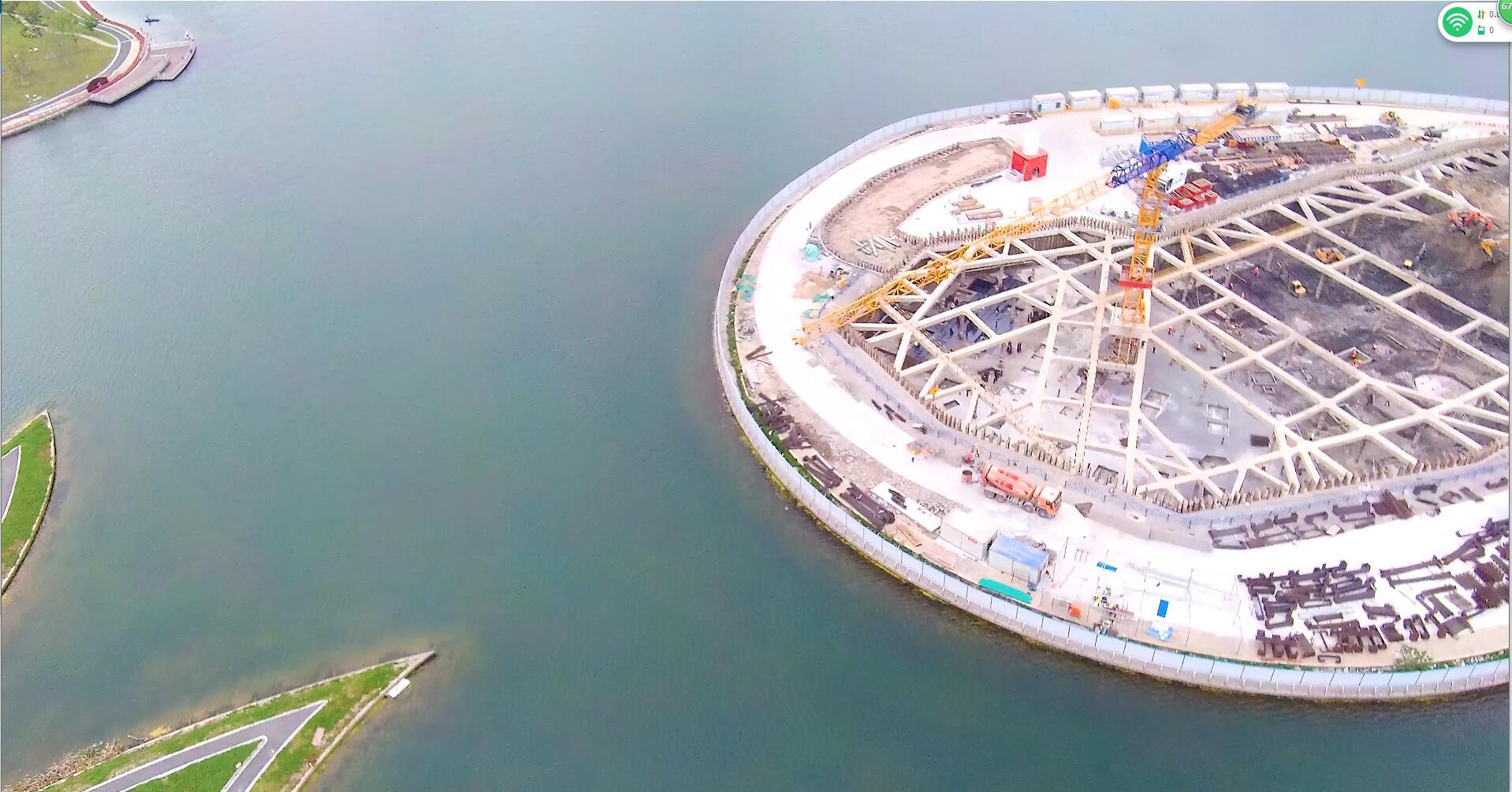 上海之鱼俯拍城市绿地规划建设