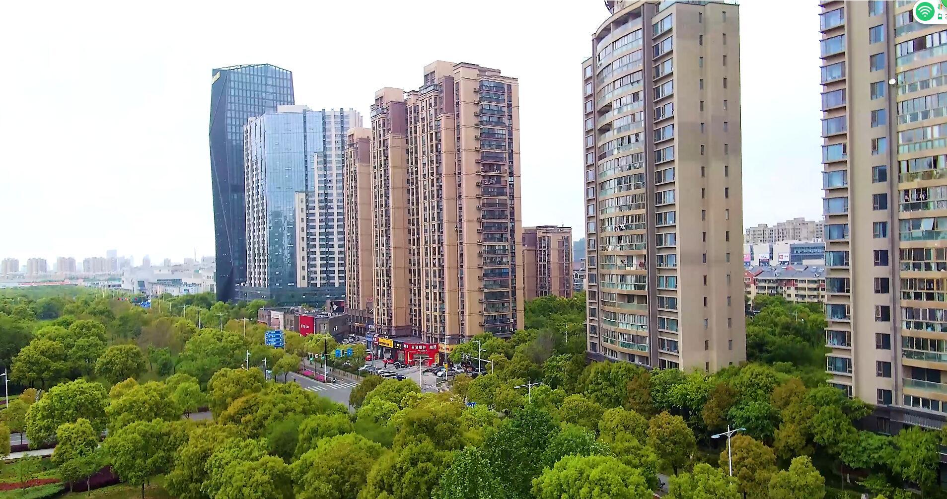 城市小区高楼林立的住宅建筑群商品房
