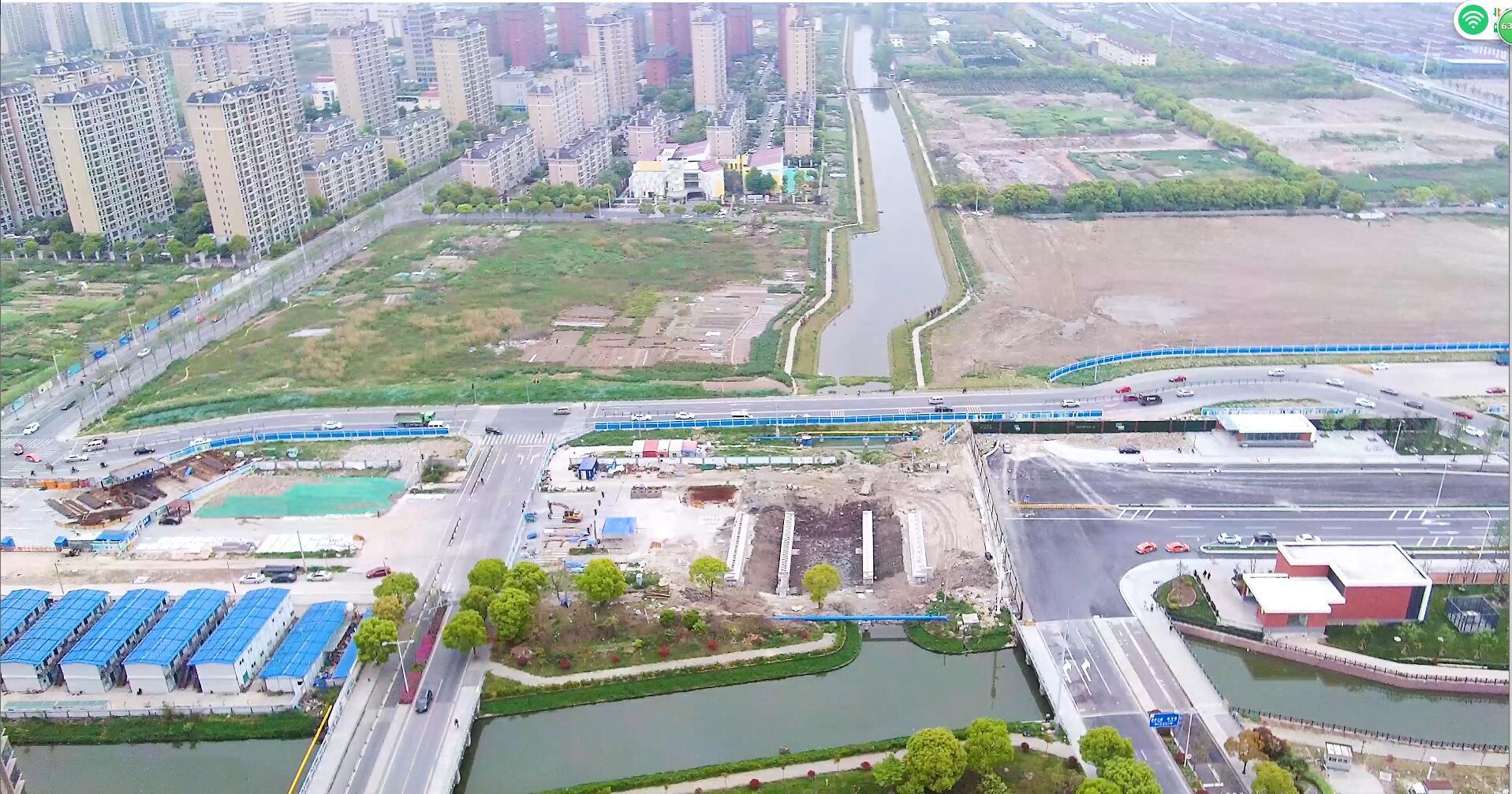 上海郊区城市发展建设道路交通4K视频