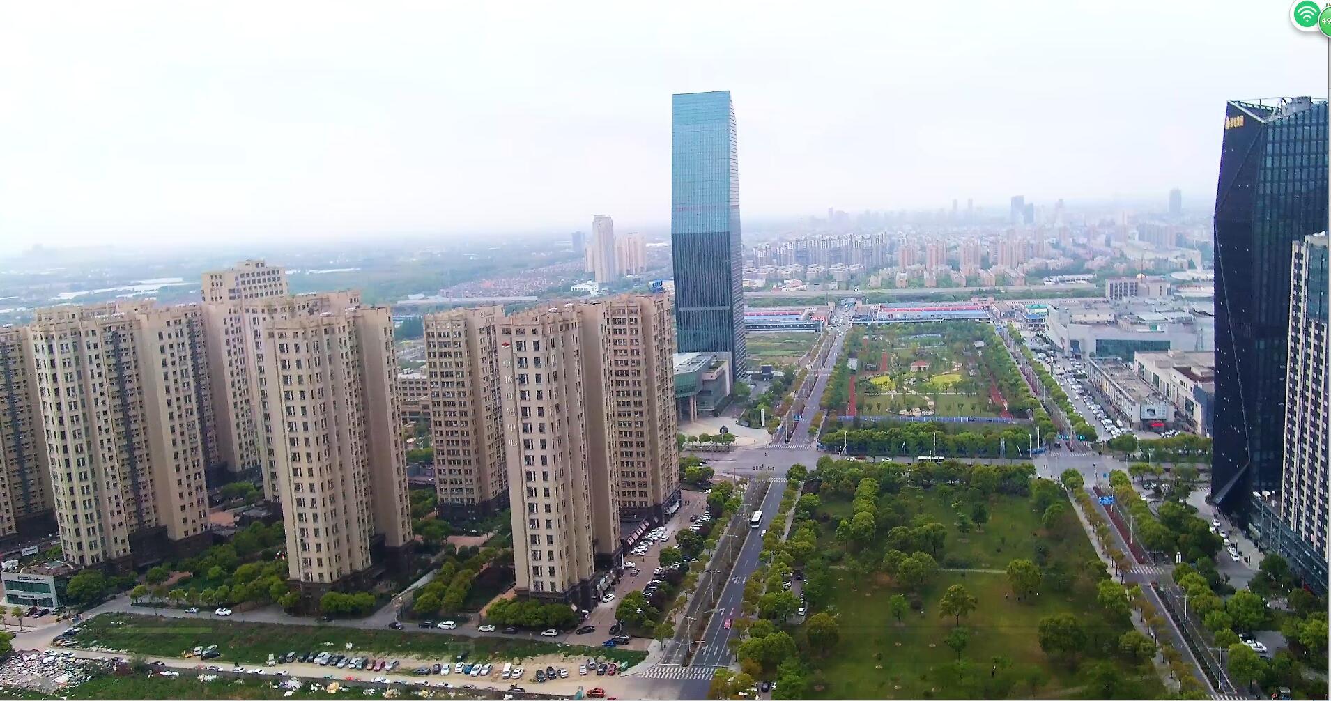 上海南桥商业中心俯拍4K高清视频