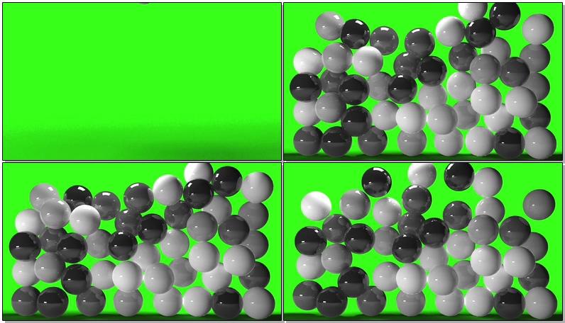 绿屏抠像黑白弹力球