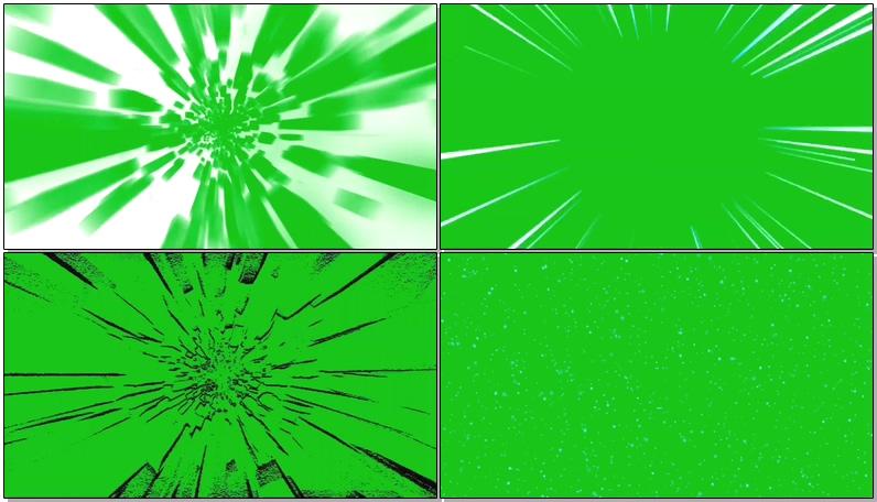 绿屏抠像各种隧道极速穿越效果