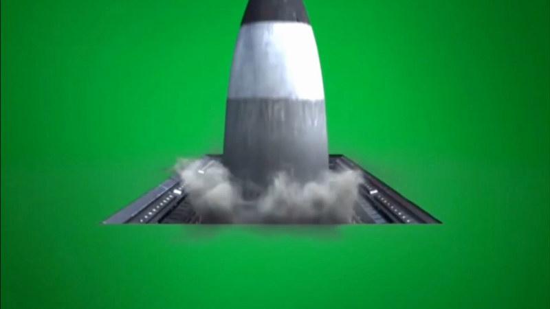 绿屏抠像洲际导弹打击发射