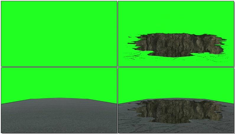 绿屏抠像塌陷的地面