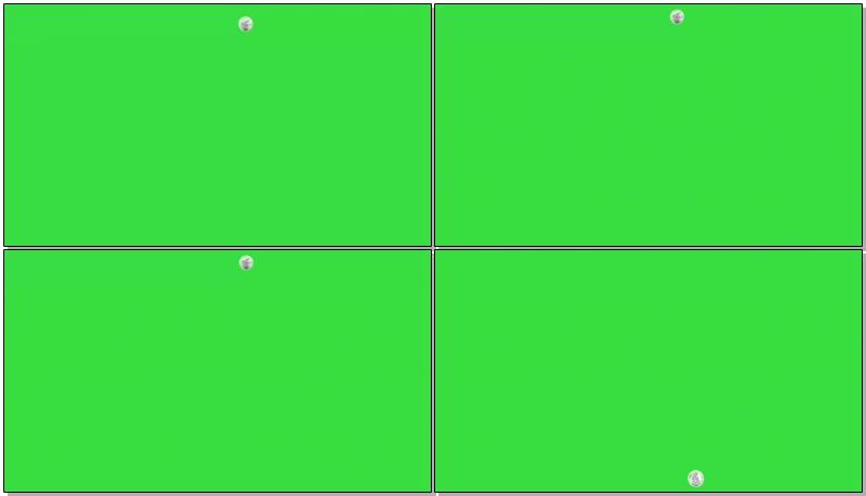 绿屏抠像由远到近坠落的月球