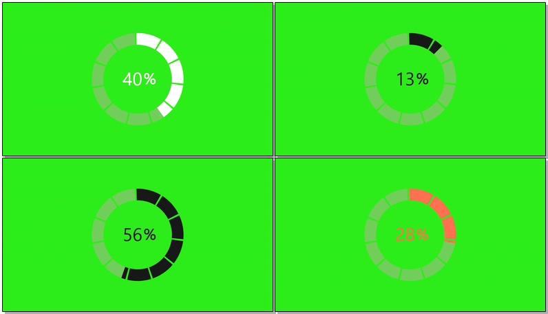 绿屏抠像圆圈进度条