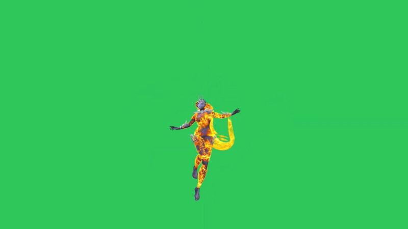 绿屏抠像从天而降的火精灵