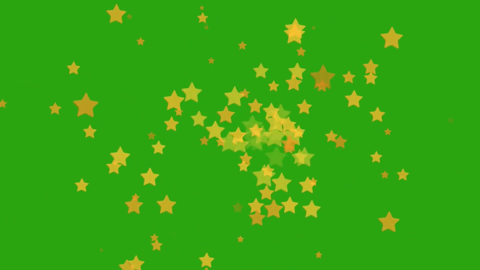 绿屏抠像金星绽放背景