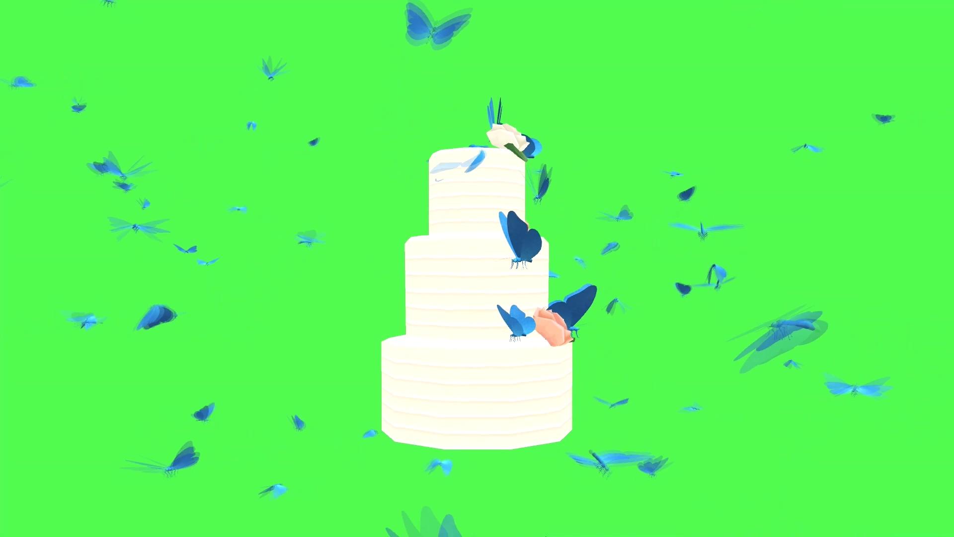 绿屏抠像生日蛋糕