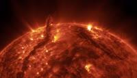 炙热火红星球大气LED背景视频素材