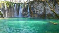 唯美大自然瀑布实拍视频素材