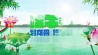 中国风传统端午节划龙舟吃香粽