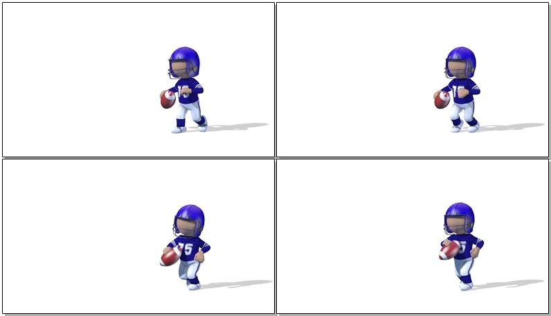 卡通3D橄榄球员