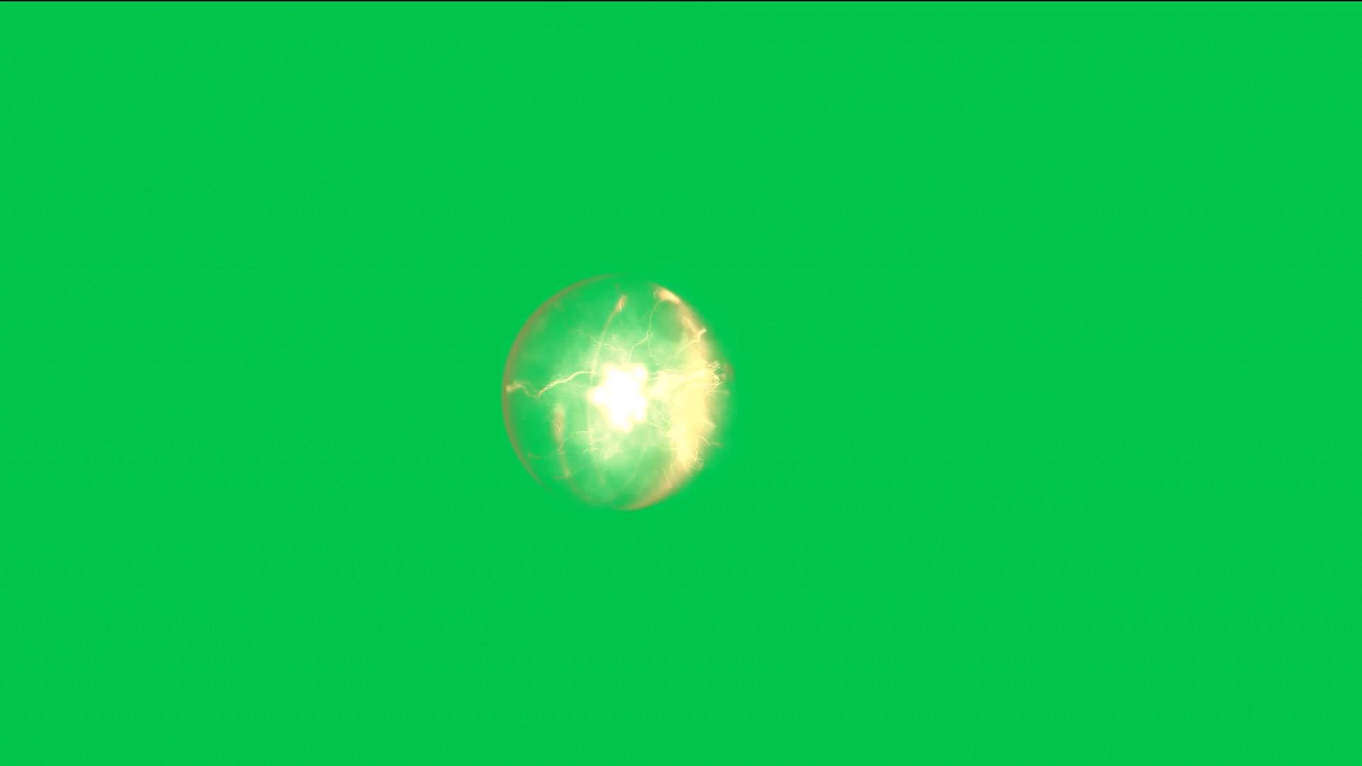 绿屏抠像金色能量球