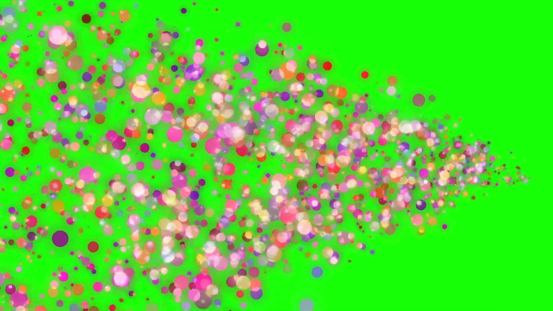 绿屏抠像节日庆典彩色气泡