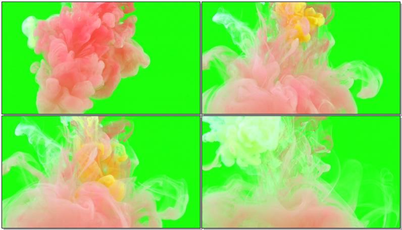 \[4K\]绿屏抠像彩色水墨