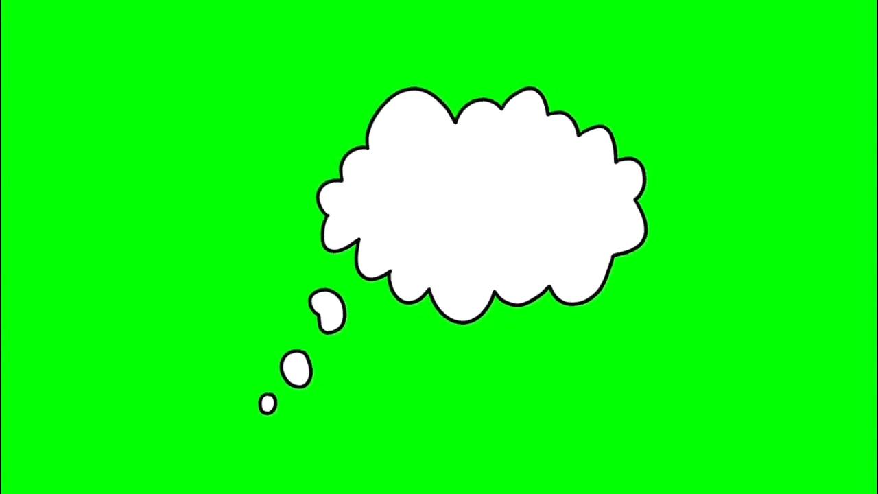 绿屏抠像思考的云朵