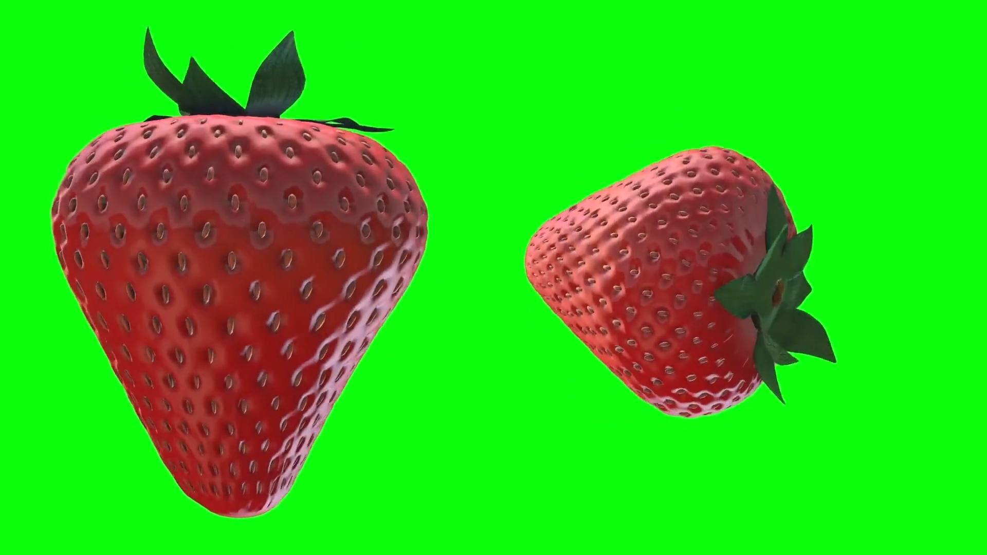绿屏抠像草莓