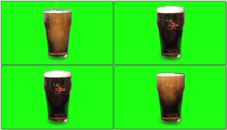 绿屏抠像啤酒