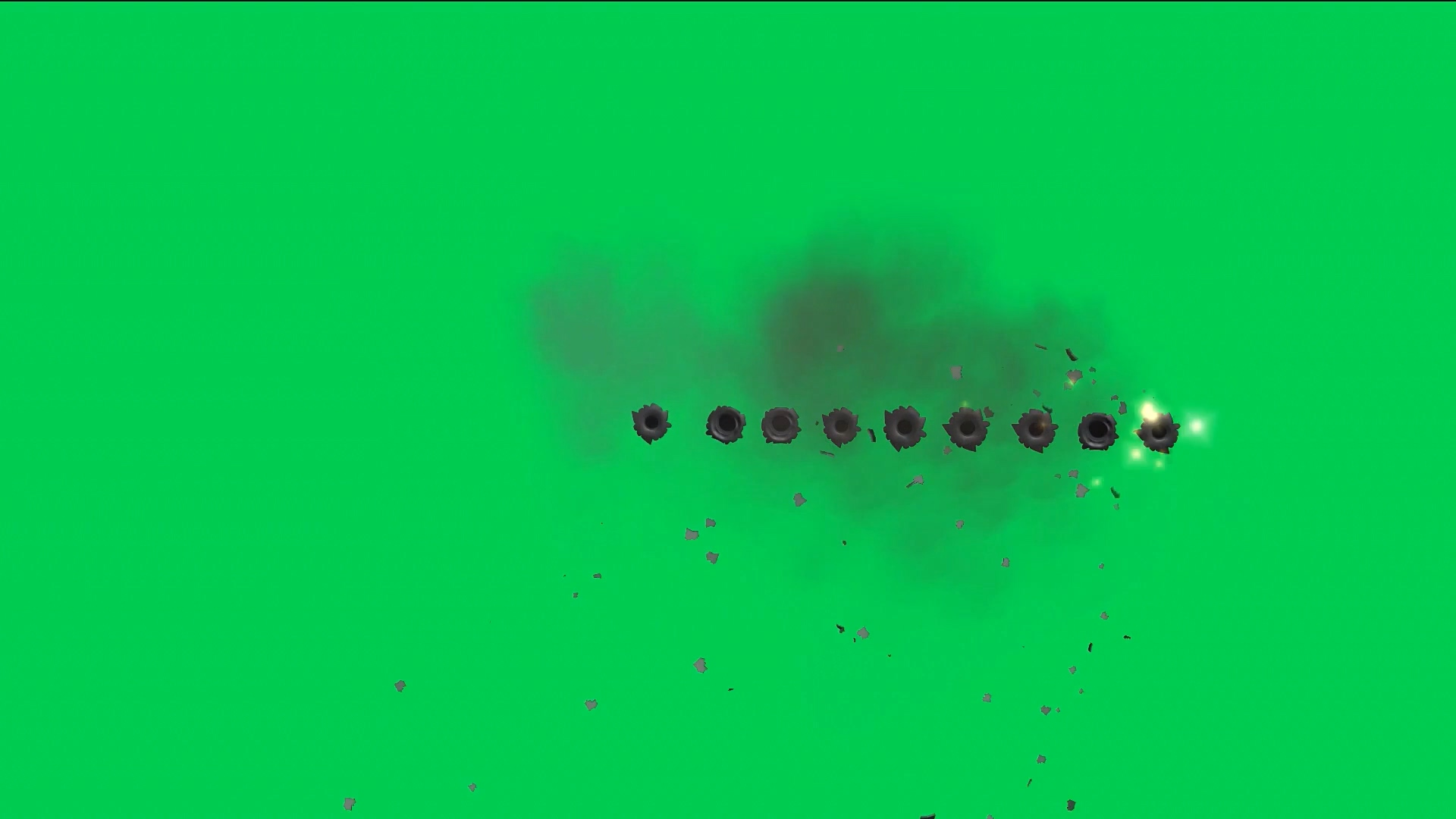 绿屏抠像枪眼
