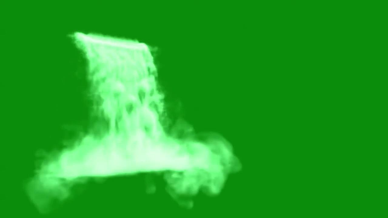 绿屏抠像大瀑布