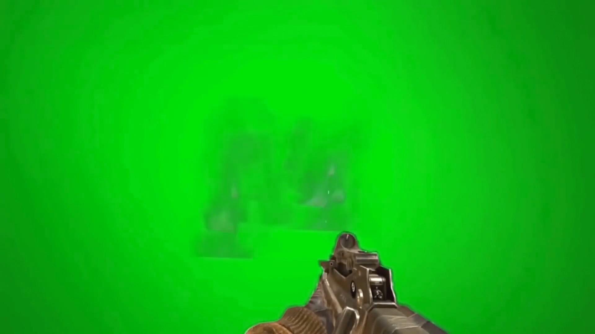 绿屏抠像吃鸡游戏开枪射击