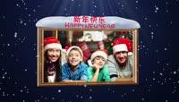PR简单的飘雪圣诞节制作