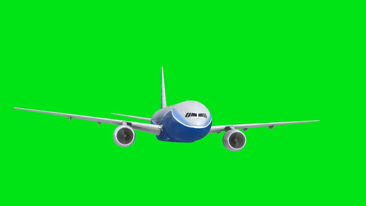 绿屏抠像民航客机