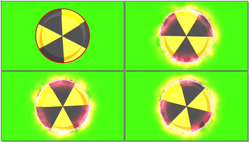 \[4K\]绿屏抠像放射性符号