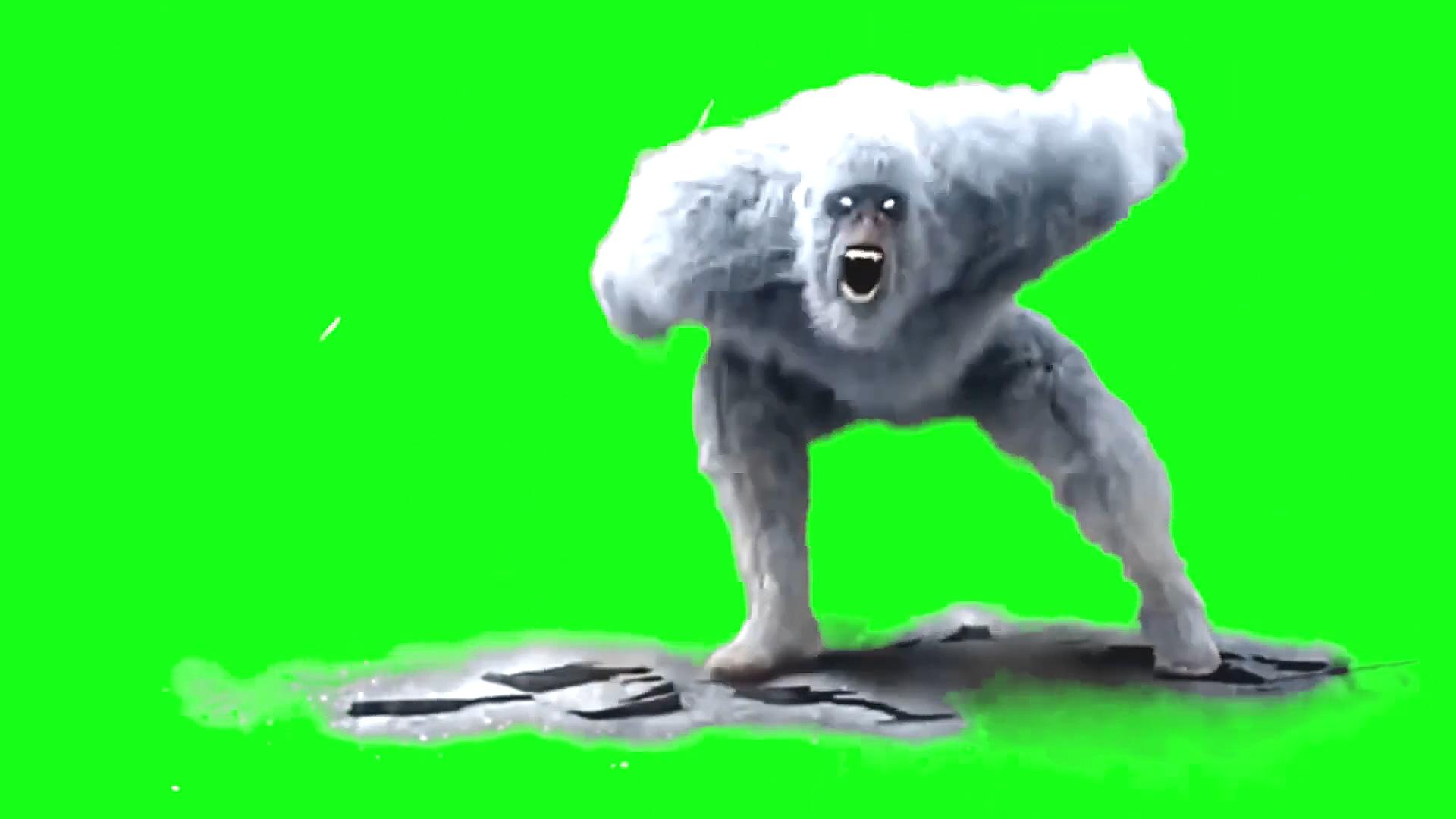 绿屏抠像雪怪