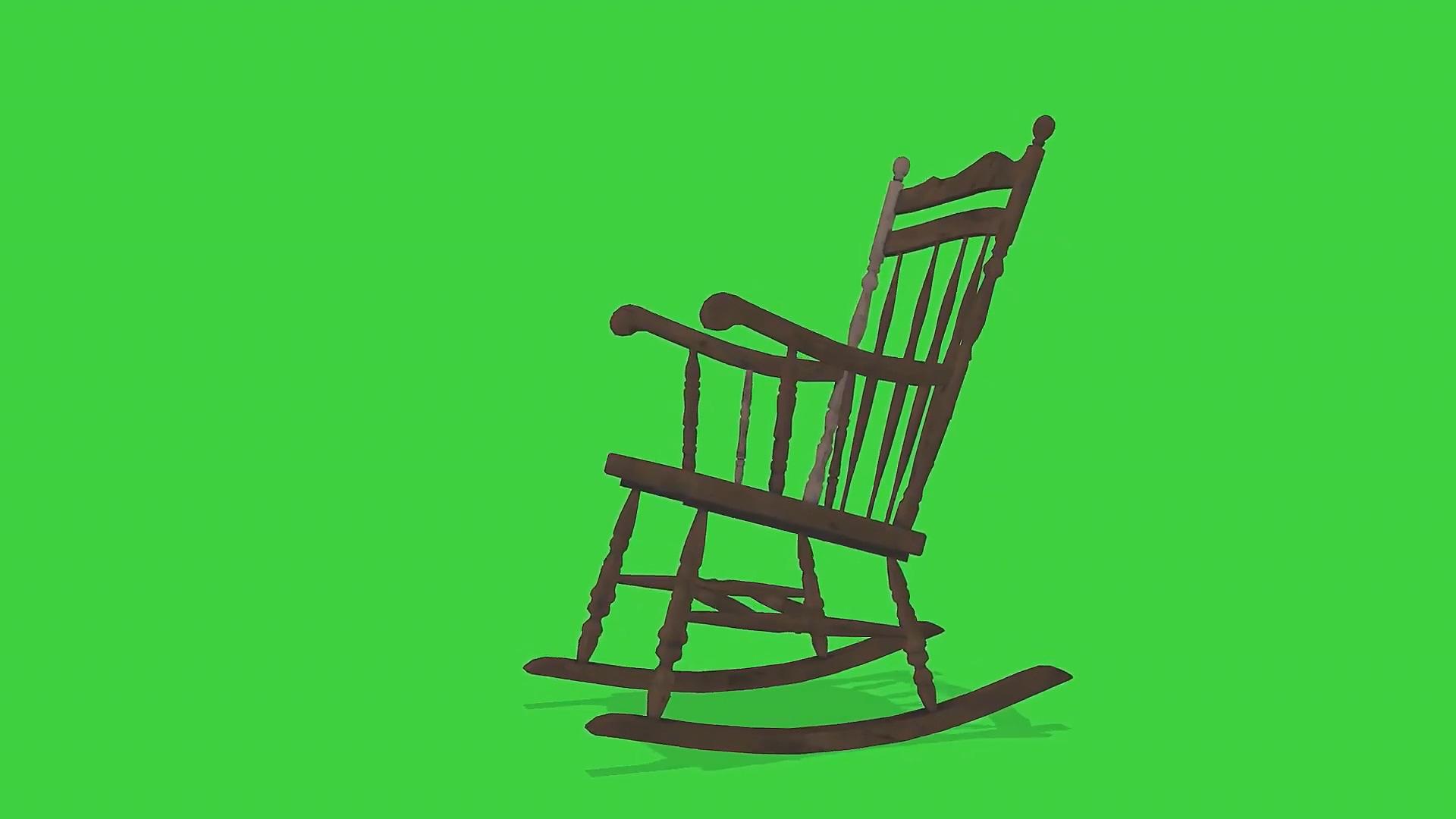 绿屏抠像摇椅