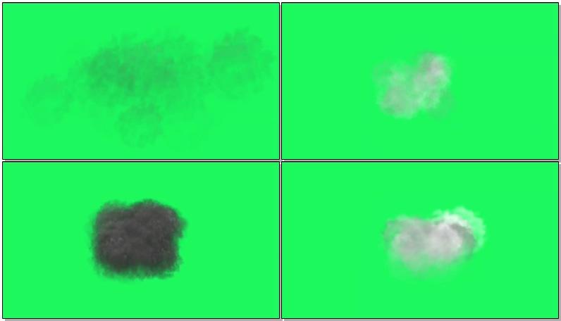 绿屏抠像积雨云乌云闪电云