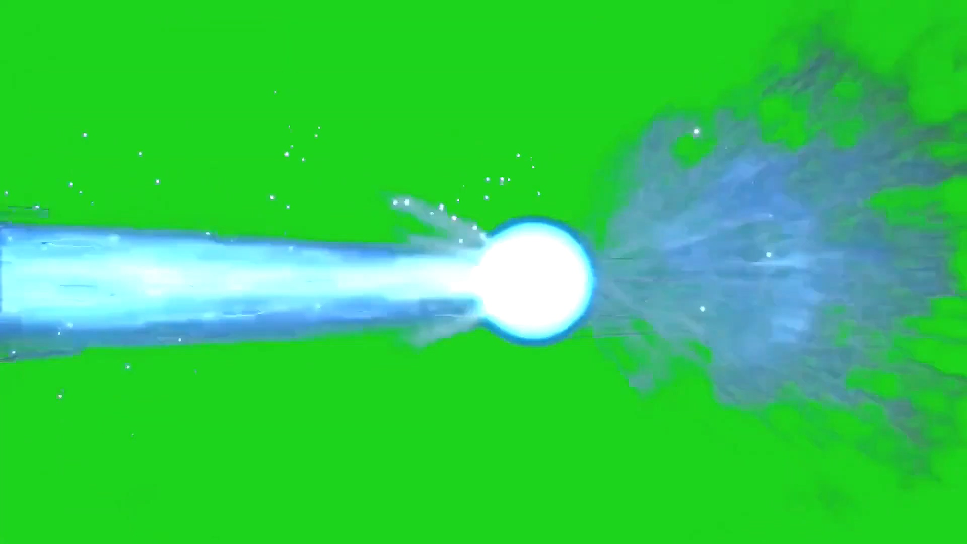 绿屏冲击波能量球