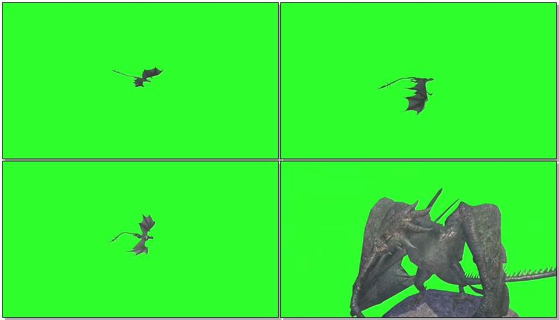 绿屏抠像空中飞龙