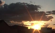 傍晚云层变化延时摄影