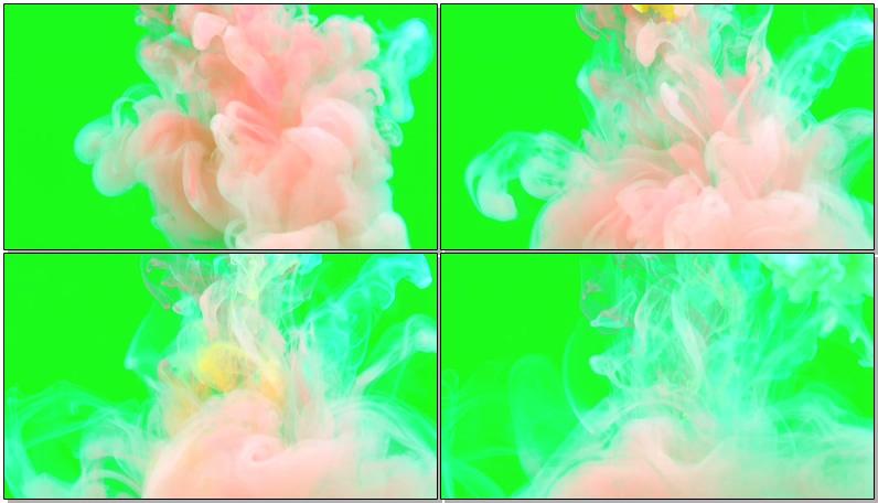 绿屏抠像彩色水墨