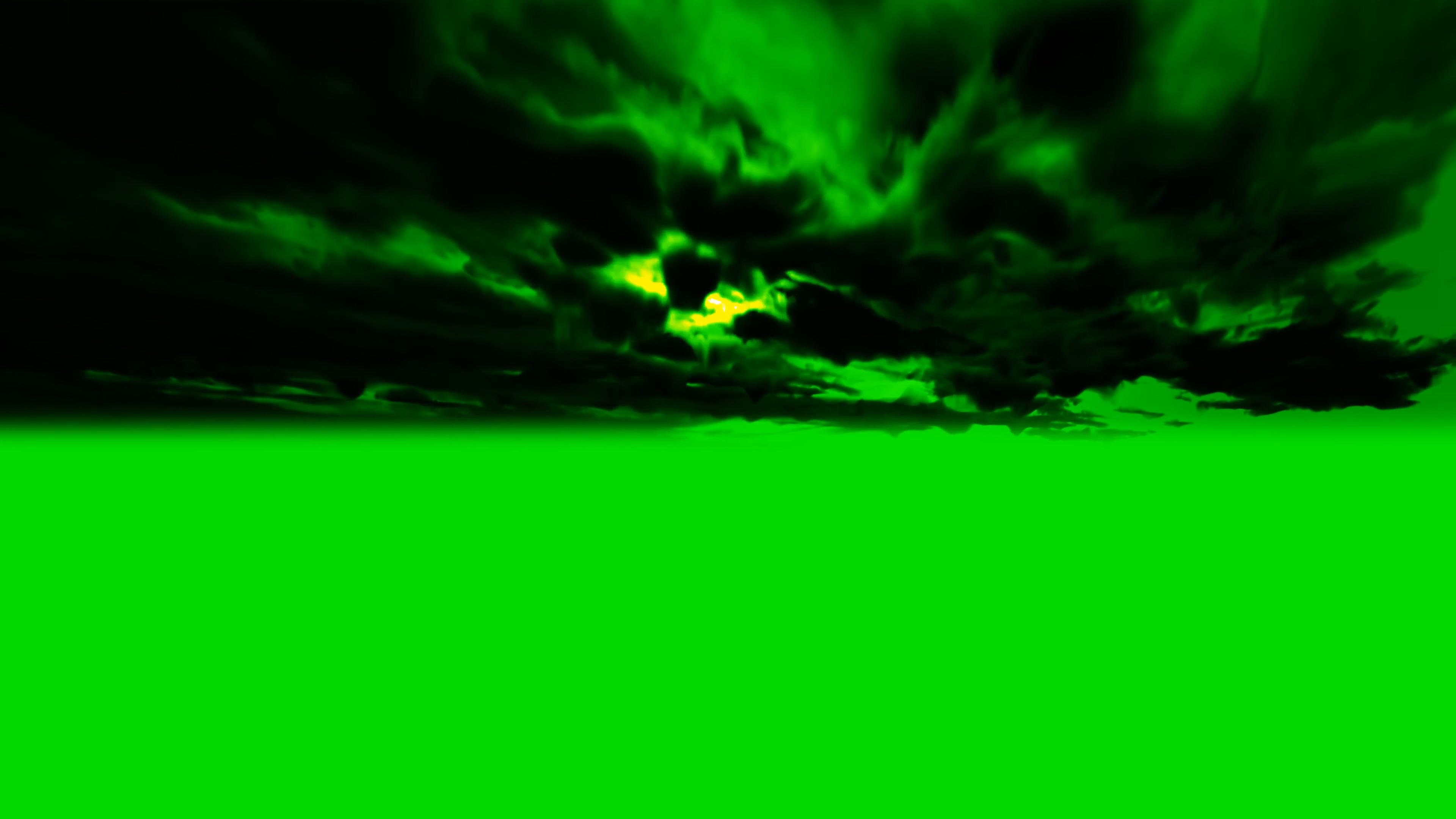 \[4K\]绿屏抠像乌云雷电