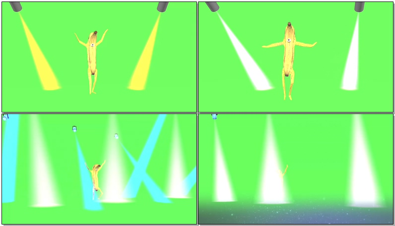 绿屏抠像跳舞的香蕉